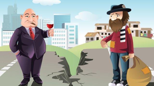 豊かさと貧しさの対比